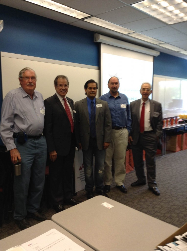 Dr Gary Blank and Herman Amaya greet our local Foothill Team 04/12/2014