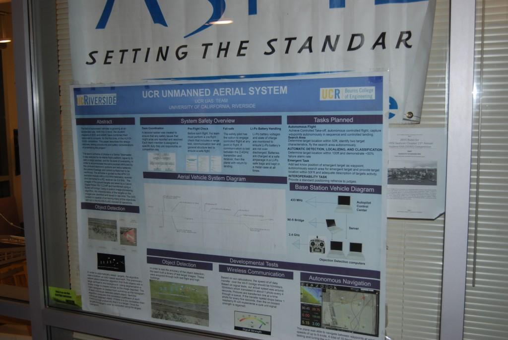 A poster for the UAV project