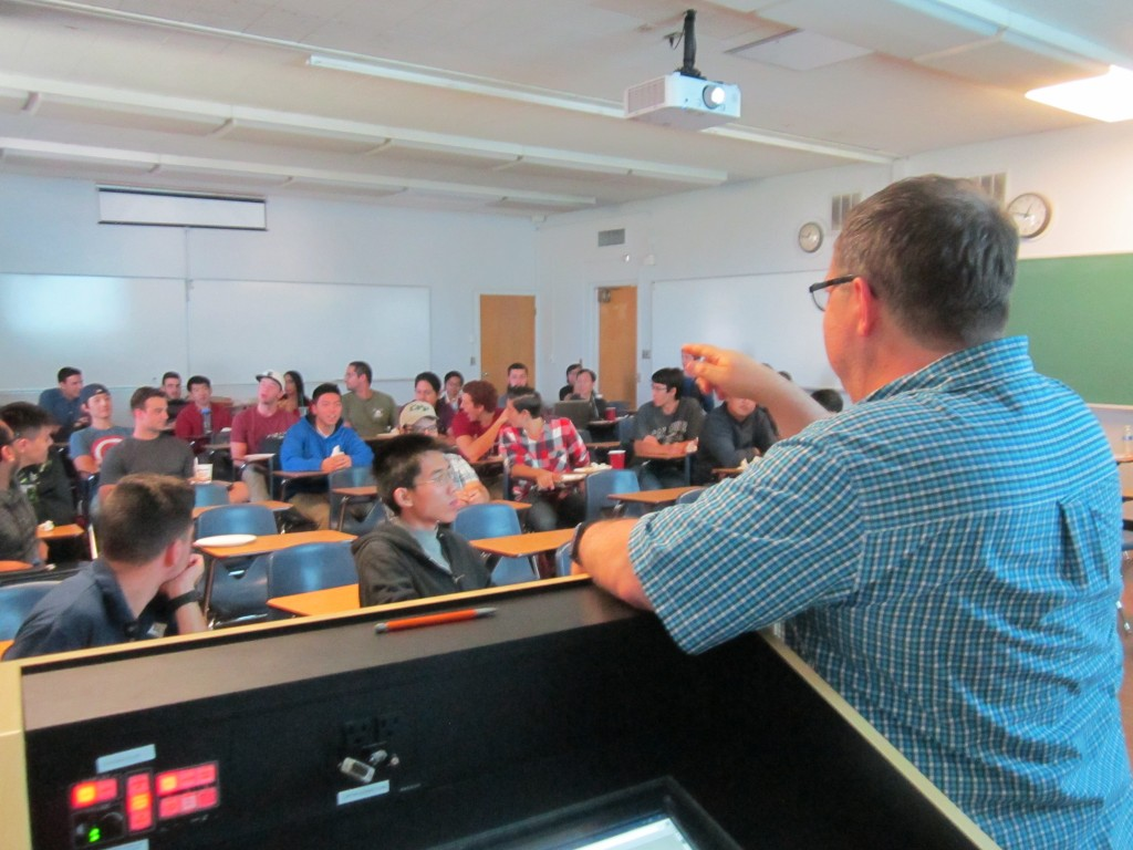 Q&A time with the Cal Poly IEEE students---always a highlight of a visit.