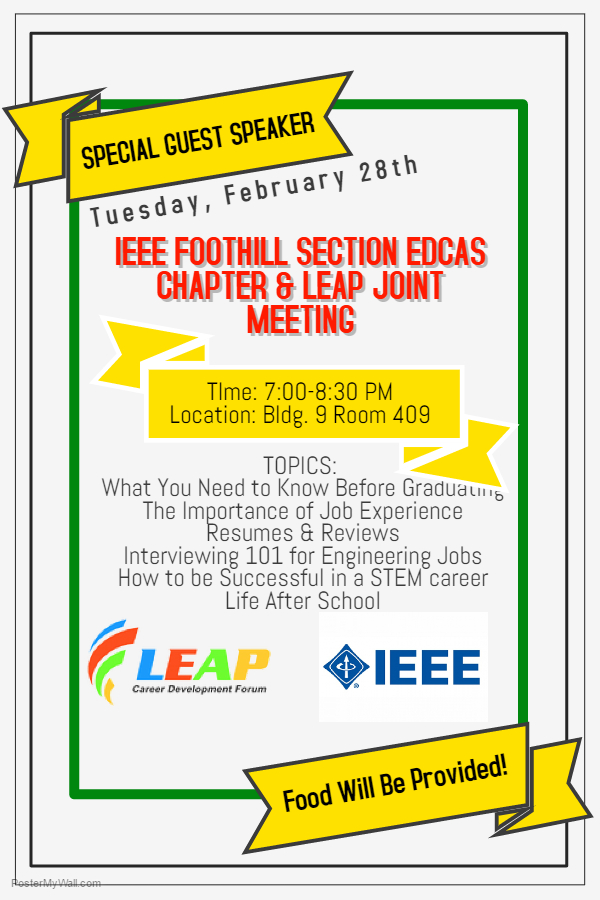 EDCAS Chapter & LEAP Joint Meeting @ Cal Poly Pomona. Bldg 9, Room 409 | Pomona | California | United States